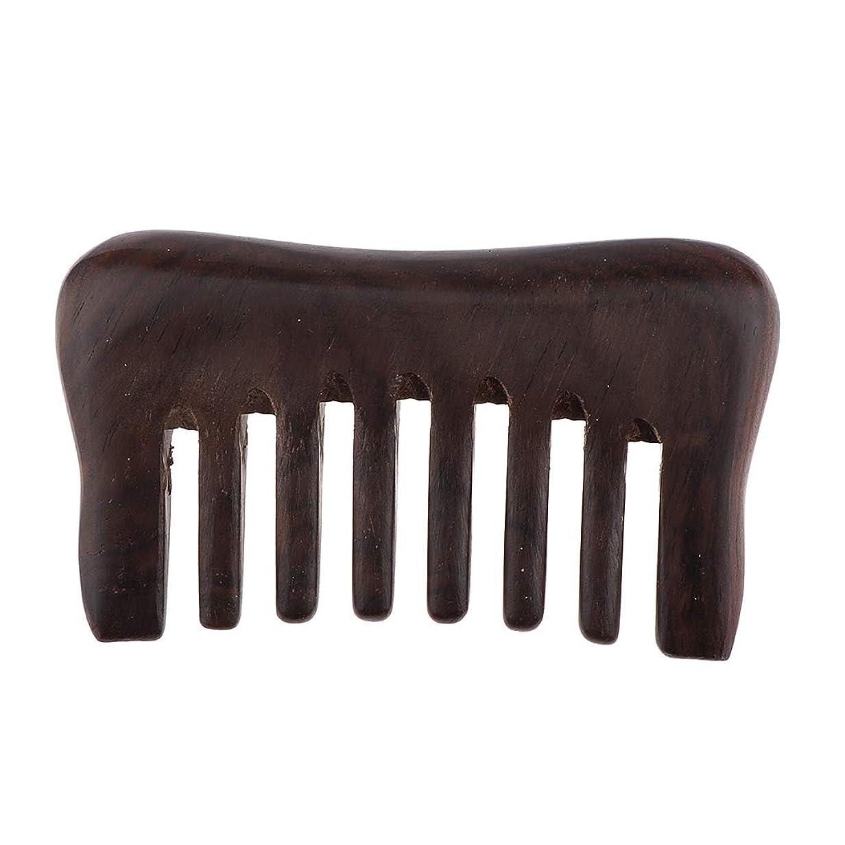 固体抹消腹部F Fityle ヘアコーム 木製櫛 頭皮マッサージ ヘアブラシ 3色選べ - 黒檀