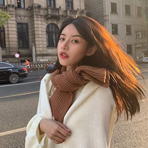 YNHSZ bufanda Bufanda pequeña cera blanda suave estudiante blanco bufanda corta color...