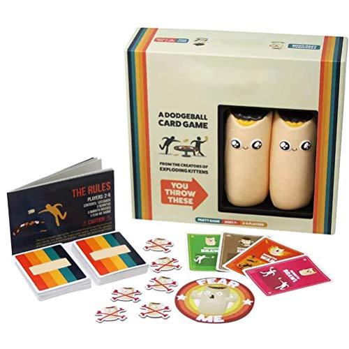 HEITIGN Familienpartyspiele, Kartenspiel mit Maiswurf Familienfreundliche Partyspiele, Völkerballkartenspiel, Interaktives Brettspiel, Kartenspiele für Erwachsene, Teenager, Kinder