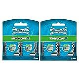 Wilkinson Sword Protector 3 - Pack de 16 Recambios de Cuchillas de Afeitar de 3 Hojas para Hombres, Banda Acondicionadora con Aloe Vera