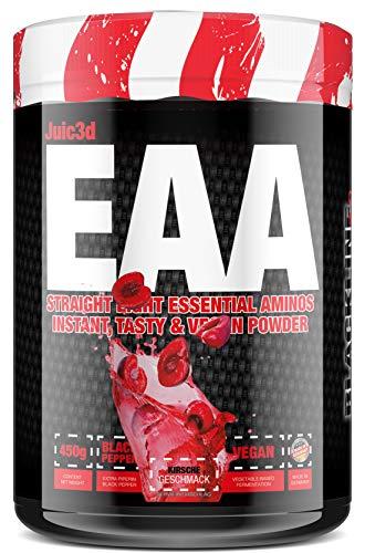 sinob - Juic3d EAA (Kirsche). Extrem Lecker, Sofort Löslich & Vegan. 8 Essentielle Aminosäuren In Reinform. 1 x 450g