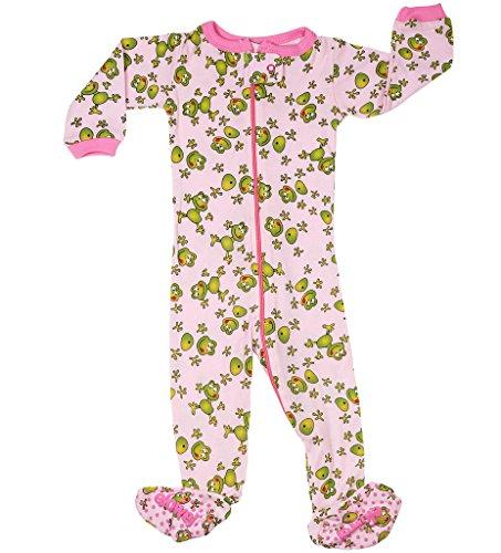 elowel | Pijamas De Niñas | Bebé, Pequeño, Chicas, Ropa De Dormir | 1 Pieza | Algodon | Tamaño: 3 Años (98) | Colro: Multicolor | Diseño: Fröschchen