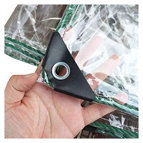 ALGFree Claro Cubrir Lonas Impermeables Exterior Tarea Pesada a Prueba De Polvo Impermeable Lona Alquitranada por Cámping Pescar Jardinería Anti-envejecimiento Aislamiento PVC Lona