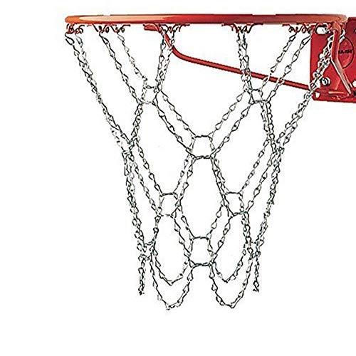 LIOOBO Eisenkettenbasketballnetz professioneller Standard-Hochleistungsbasketballtornetzersatz-Basketballnetz