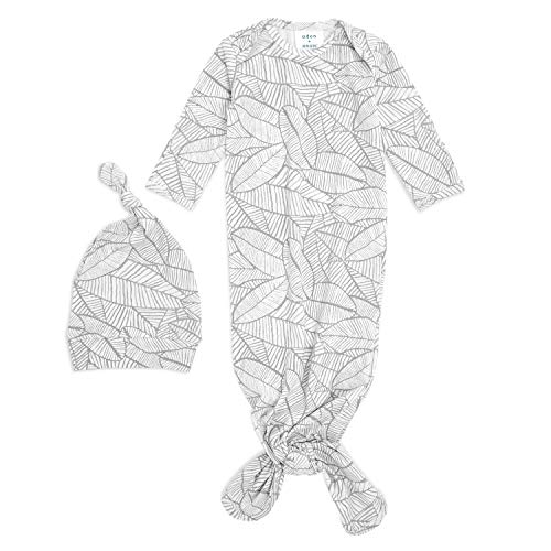 aden + anais Comfort gebreide jurk met knoop en hoed cadeauset - Zebra (Maat: 0-3 maanden), Baby, AGHK20004