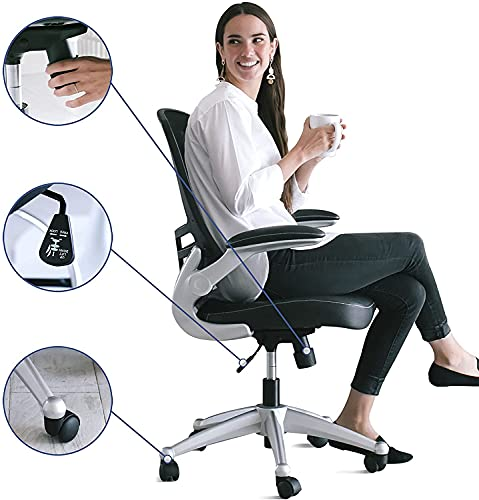 Modway Attainment Mesh Back and Vinyl Seat Office Chair