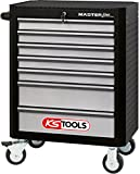 KS Tools 878.0007 MASTERline Werkstattwagen,mit 7 Schubladen schwarz/silber