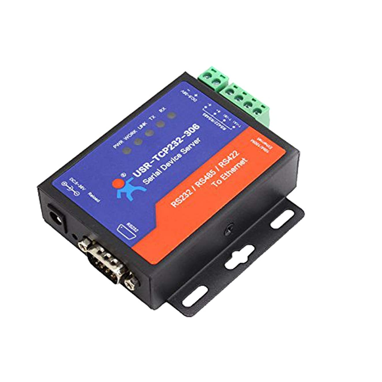 ?USR-TCP232-306 Serial to Ethernet Device Serial RS232/RS485/RS422 to Ethernet TCP/IP Server with DHCP
