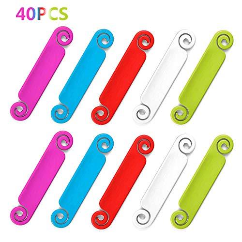 Preisvergleich Produktbild ANDERK 40 Stück Kabeletiketten mehrfarbig beschriften auf Kabel und Kabelkennzeichnung