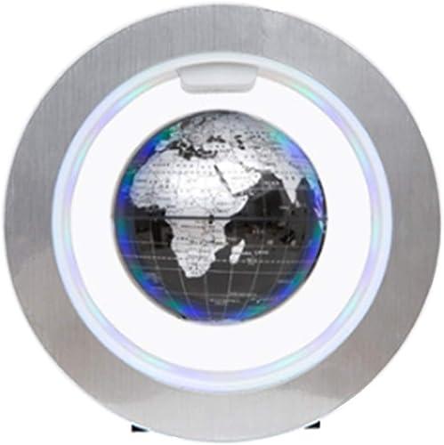 DMMW Desktop-Globus Schwimmende Kugel mit LED-Leuchten Magnetschwebebahn Floating Globe Weltkarte für Schreibtisch Dekoration (Schwarz Wohnzimmer   Büro Desktop Dekoration   Kreativit
