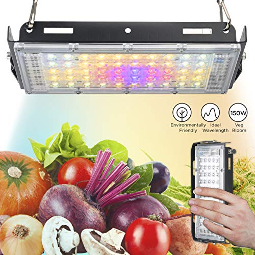 ECRU LED Grow Light Panel - 150W Equivalent Growing lamp with Natural Solar Full Spectrum White LED Light Bulb for Indoor Plant Seedling, Vegetation and Flowering - LED Indoor Grow Light