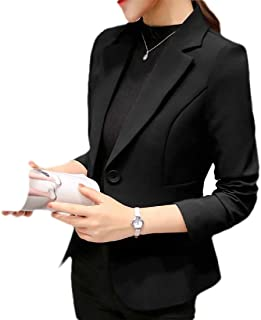 FSSE Womens Formal One Button Solid Slim Fit Work Office Blazer Jacket Suit Coat