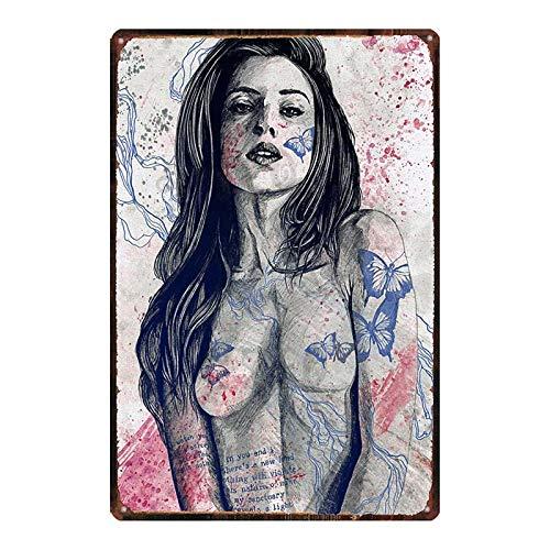 Monroe cartel de la película estrella amante del sexo chica metal estaño placa retro pared bar restaurante arte familiar cine tienda de tatuajes decoración etiqueta de la pared 20x30 cm DU-7281