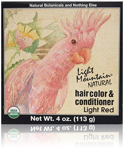 Organische natürliche Haarfarbe Conditioner, hellrot - Licht Gebirge - Menge: 1