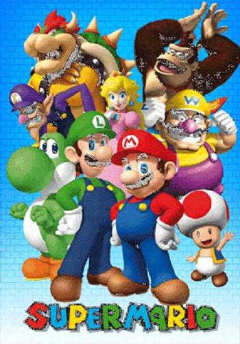 Empire 3D Poster Nintendo Motif Personnages Super Mario et Accessoires