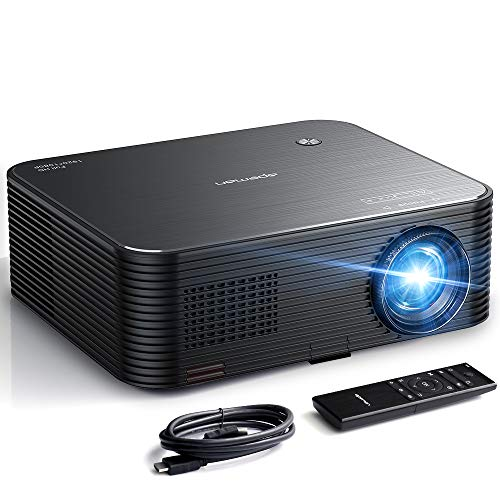 Projector, APEMAN 6000lux Native 1080P HD 4K Video Projector, 300'' Display, Electronic Keystone Correction, 50000hrs Lamp Life, TV Box/Smartphone/Notebook Compatible, for Business Presentation