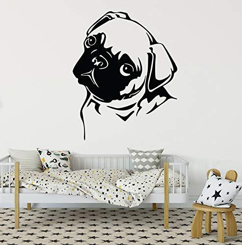 Hetingyue wandfoto, vinyl, motief Wall van de woonkamer, grappig en lief, zelfklevend, zelfklevend