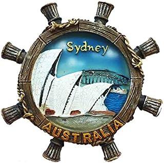 Sydney Australia 3D Refrigerator Magnet Travel Souvenirs,Hand-made Rudder Shaped Sydney Australia Fridge Magnet Home and Kitchen Decoration Magnetic Sticker
