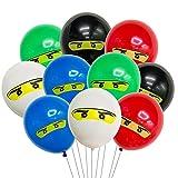 Juego de 50 piezas de decoración de fiesta de cumpleaños ninja, decoración de fiesta de cumpleaños ninja, globos de bandera para niños y fiestas temáticas de judo