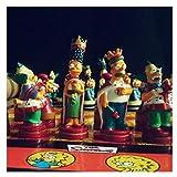 Ajedrez Juego de ajedrez Juego de ajedrez Medieval King High 9mm sin Tablero de ajedrez 32 Piezas de ajedrez Juguetes for niños Juego de Juego Juego de Ajedrez