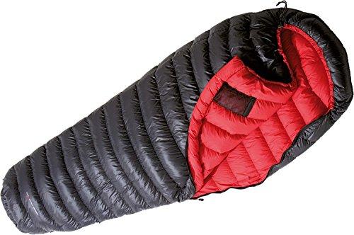 YETI VIB 250, Black/Fiery Red Daunenschlafsack Schlafsack, Größe M