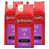 Community Coffee French Roast Extra Dark Roast Premium Ground Coffee, 12 Ounce Bag (Pack of 3)