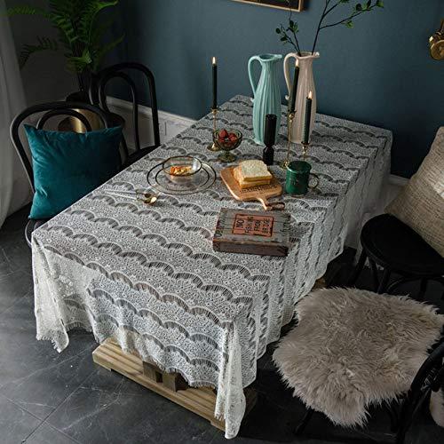 Kant opengewerkte decoratieve tafelkleed tafelkleed rechthoekig tafelkleed eettafel cover Obrus Tafelkleed mantel aanrecht suede 150cmx 350cm A