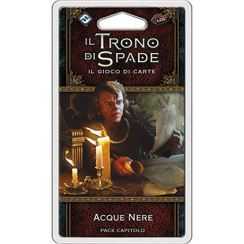 Asmodee Italia-Juego de Tronos LCG 2nd Ed. Acque Nere 9248 - Juego de Mesa de expansión (edición Completamente Italiana), Color Negro