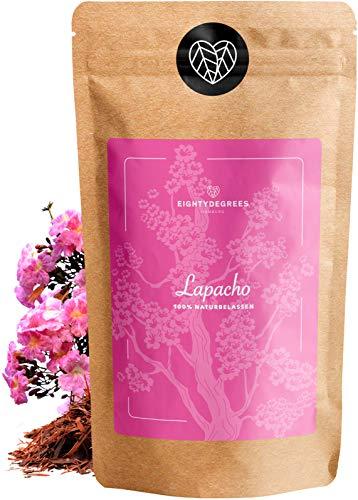 Lapacho Tee - 100% innere Lapacho Rinde - Premium Tee-Qualität - geschnitten, naturbelassen aus kontrolliertem Anbau - geschnitten - per Hand geprüft und abgefüllt in Deutschland | 80DEGREES (500g)