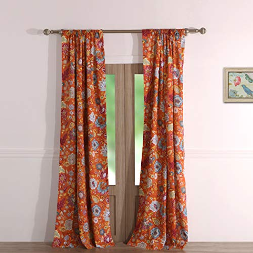 Greenland Home Astoria Curtain Panel Pair, 84-inch L, Spice
