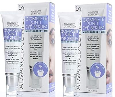 Advanced Clinicals 5-in-1 Multi Correction Anti-Aging Eye Serum w