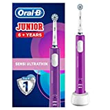 Oral-B Junior Kids Electric Rechargeable Toothbrush for Children Age 6-12, 1 Rechargeable Handle