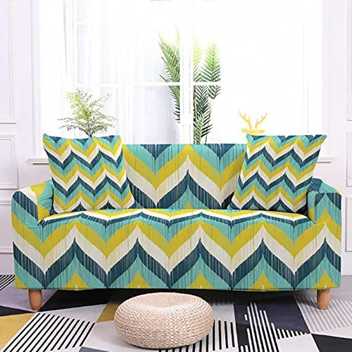JINGQIAO Fundas elásticas para sofá de 3 plazas, con diseño geométrico nórdico, funda elástica para sofá de 3 plazas, todo incluido