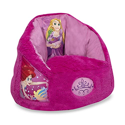 Disney Princess Cozee Fluffy Chair by Delta Children, Toddler Size (for Kids Up to 6 Years Old)