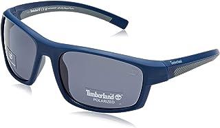 9771a65f6a Timberland TB9134 Gafas de sol, Azul (Matte Blue/Smoke Polarized), 63.0