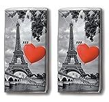 20 de pañuelos (2 x 10) City of Love - el amor está en el centro de la ciudad de París // / de pañuelos con diseño de la bandera de Francia