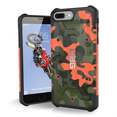 Urban Armor Gear Limited Edition Pathfinder Schutzhülle nach US-Militärstandard für Apple iPhone 8 Plus / 7 Plus / 6S Plus (Camo rust/orange)[Verstärkte Ecken, Sturzfest, Antistatisch]-IPH8/7PLS-A-RC