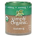 Simply Organic Ground Nutmeg, Certified Organic | 0.53 oz | Myristica fragrans Houtt.
