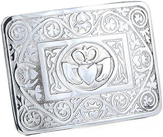 Pewter Irish Claddagh Celtic Interlace Kilt Belt Buckle Made In Scotland