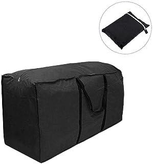 HEXIN BAG 屋外の家具収納袋のための防水特大収納袋オックスフォード布黒特別大容量移動家の毛布布団寝具枕や服のための強力なオーガナイザーバッグ