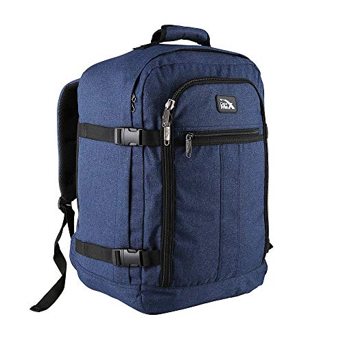 Cabin Max Metz 30 Litre Travel Hand Luggage Backpack – Easyjet Underseat 45 x 36 x 20 cm (Atlantic Blue)