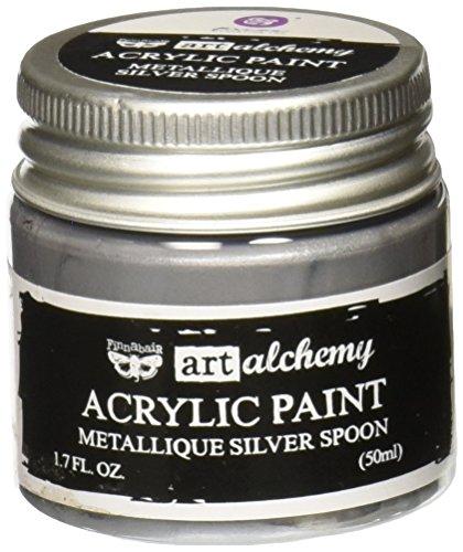 Prima Marketing Finnabair Art Alchemie Acryl Verf 1.7 Vloeistof Ounces-Metallique Zilveren Lepel, Overige, Multi kleuren, 4.59x4.49x5.2 cm