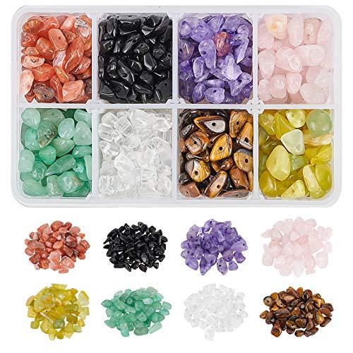 NBEADS 1 Box Edelstein-Chips Perlen, 8 Steine Natürlicher Unregelmäßig Geformter Nugget Lose Perlen Energiestein Für Die Schmuckherstellung, 5-8 mm