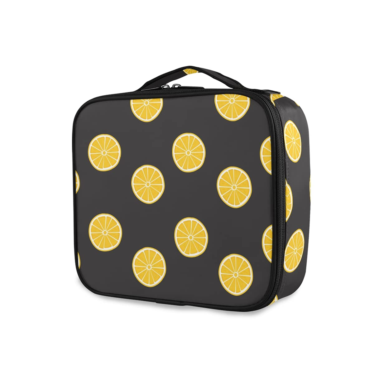 OTVEE Yellow Max 87% OFF Lemon Fruit Pattern Cosmetic Bag Makeup Travel low-pricing