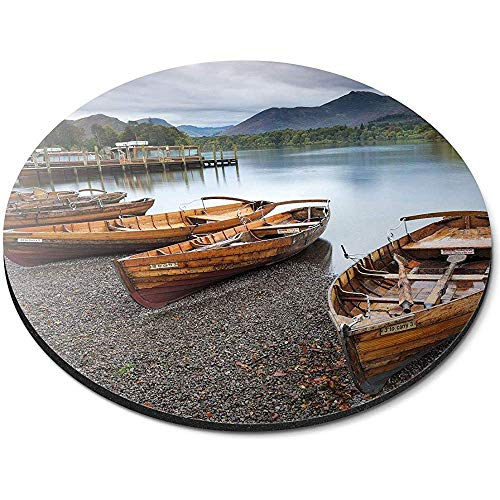 Ronde muismat - Keswick Lake District Engeland boten Office Gift