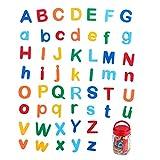 NUOBESTY 1 Juego de Juguetes Magnéticos del Alfabeto Aprendizaje de Letras Juguete Magnético Letras Mayúsculas Y Minúsculas Juguete de Rompecabezas de Enseñanza para Niños
