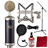 Blue Baby Bottle SL Large-Diaphragm Studio Condenser Microphone with Boom Stand and Pop Filter Deluxe Accessory Bundle
