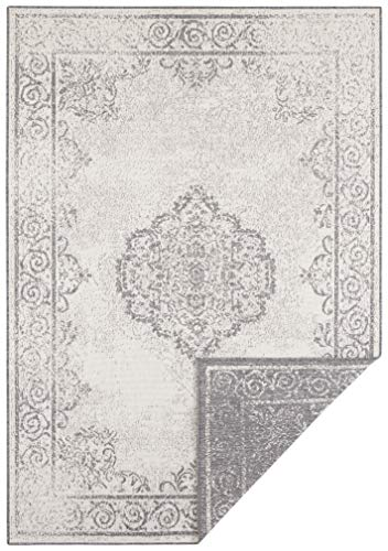 bougari In- & Outdoor Wendeteppich Cebu Grau Creme, 160x230 cm