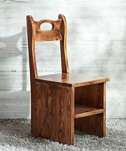ZENGAI Bois Massif Échelle De Chaise Créatif Et Pratique Chaise D'échelle De Bibliothèque Cour Extérieure Chaise Pliante Échelle en bois Bibliothèque