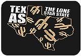 hgfyef - Felpudo Antideslizante con diseño de Lunares de Color Texas, tipografía, Mapa del Estado de Cactus Grunge, Ropa de Texas, tipografía, alfombras de Entrada, 16 x 24 Pulgadas